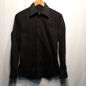 PREMIUM H&M BlackButtonDownShirt 60%cotton35%Nylon
